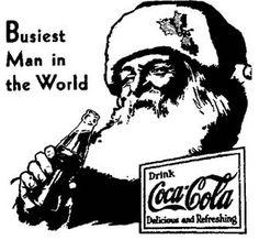 Coca-Cola Christmas Santa ad from 1930 Coca Cola Life, Coca Cola Drink, Coca Cola Polar Bear, World Of Coca Cola, Pepsi Cola, Coke Santa, Coca Cola Santa, Coca Cola Christmas, Vintage Christmas