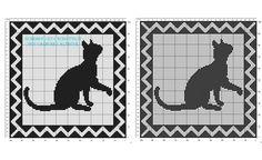 Centro filet di forma quadrata con l'ombra di un gatto download gratuito