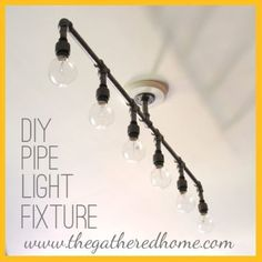 How to Make a Fabulous Plumbing Pipe Light Fixture by The Gathered Home