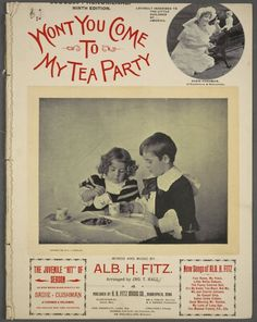 Wont you come to my tea party From New York Public Library Digital Collections.