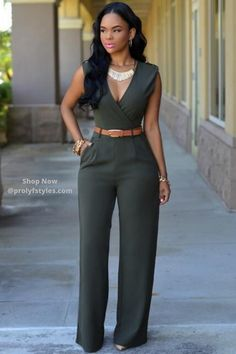 Deep V Rompers Womens Jumpsuit 2016 Sleeveless Fashion Elegant Jumpsuits Overalls Playsuit With Belt combinaison femme Jumpsuit Outfit, Casual Jumpsuit, Bodycon Jumpsuit, Strapless Jumpsuit, Short Jumpsuit, Casual Pants, Fashion Mode, Fashion Outfits, Womens Fashion