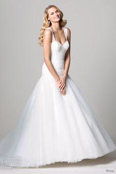 in <3 !!!! <3 wtoo fall 2012 drop waist wedding dress with straps