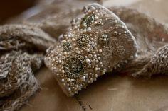 Браслеты ручной работы. Текстильный браслет манжета в стиле бохо с вышивкой (отложено). Алина Берёзкина. Ярмарка Мастеров. Кремовый, манжета