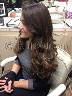 Brunette golden hair