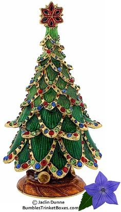 Trinket Box: Christmas Tree With Bejeweled Trim