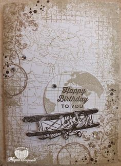 Magical Scrapworld: Stampin' Up Sky is the Limit; Timeless Textures; World Map; Going Global