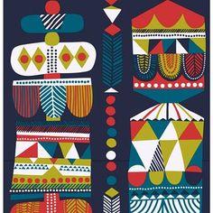 Toteemi-kangas - monivärinen - Marimekko