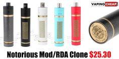 Notorious Mod Clone Hybrid - $25.30 China - http://vapingcheap.com/notorious-mod-clone-hybrid/