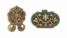 Two gemset jade pendants India, 19th century #christiesjewels