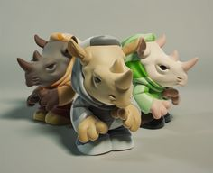 Urban Vinyl Cute Rhino Toy Design