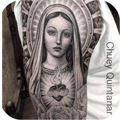 "1,853 Likes, 19 Comments - Tattoodo (@tattoodo) on Instagram: ""Pray for us sinners @chueyquintanar #tattoodo"""