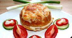 Sütőben sült bundás szendvics recept | APRÓSÉF.HU - receptek képekkel Ciabatta, Salmon Burgers, Cheddar, Hamburger, French Toast, Sandwiches, Bbq, Recipies, Breakfast