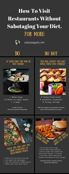 How To Visit Restaurants Without Sabotaging Your Diet. [Infographic]