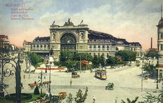 Budapest Eastern Railway station 1912 Hungary Keleti P. Old Pictures, Old Photos, Simplon Orient Express, Historical Architecture, Neoclassical Architecture, Vintage Architecture, Most Beautiful Cities, Central Europe, Budapest