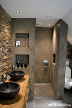 115 Extraordinary Small Bathroom Designs For Small Space 0102 - kleines badezimmer Modern Bathroom Design, Bathroom Interior Design, Bathroom Designs, Bath Design, Shower Designs, Modern Design, Interior Modern, Eclectic Bathroom, Interior Paint
