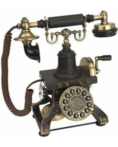 Design Toscano Antique Phone - The Eiffel Tower 1892 Rotary Telephone - Corded Retro Phone - Vintage Decorative Telephones-This fully functional, vintage style retro reproduction telephone- Vintage Phones, Vintage Telephone, Antique Phone, Tour Eiffel, Steam Punk Room, Steampunk House, Victorian Steampunk, Victorian House, Home