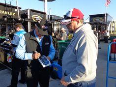 Dale Inman signing Rick's car, Martinsville October 2014