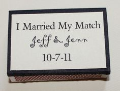 Personalized Matchboxes by Leonscreativememorie on Etsy, $1.10
