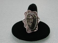 Pyritized Fossil Ammonite Unique Sterling by SilverSeahorseDesign, $95.00