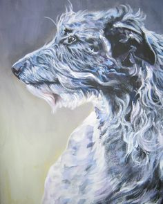 Scottish Deerhound CANVAS art print of LA Shepard by TheDogLover