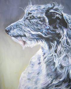 Scottish Deerhound CANVAS art print of LA Shepard by TheDogLover