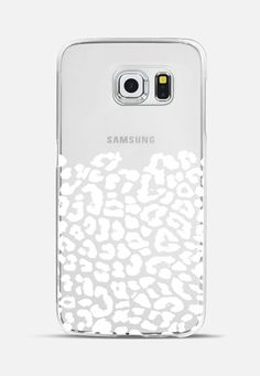 Wild White Leopard Transparent Galaxy S6 Edge Case by Organic Saturation | Casetify