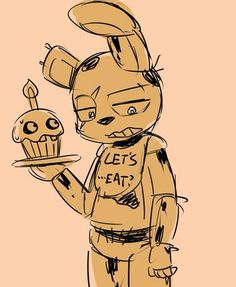 Springtrap wear Chica clothes
