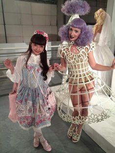 Linda Friesen (right) with Misako Aoki (left) at Hello Kitty con 2014