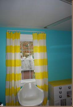 DIY Stripped Curtains