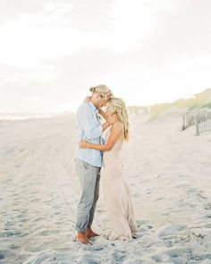 beach engagement shoot outfits. Love the pastel tones!