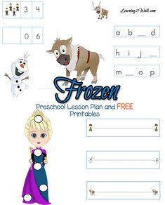 Does your preschooler love Frozen? Use these free Frozen Preschool Lesson Plan to foster their love of learning. Printable Preschool Worksheets, Preschool Learning Activities, Preschool Lesson Plans, Free Preschool, Kids Learning, Sensory Activities, Free Printables, Frozen Activities, Disney Activities