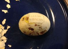 Picture of Hard Boiled Eggs With Bacon INSIDE