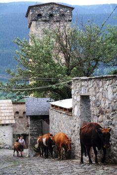 #Mestia, in the morning! Svaneti, Georgia