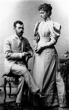 Alix of Hesse with her husband Nicholas II, Russia's last tsar