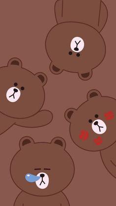 Wallpaper Fofos, Wallpaper Wa, Lines Wallpaper, Brown Wallpaper, Cute Wallpaper For Phone, Pink Wallpaper Iphone, Cute Wallpaper Backgrounds, Kawaii Cute Wallpapers, Panda Wallpapers