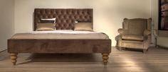 Prestige, Bed, Bruin, Goud, Inspiratie, Sfeer, Capitons, Oorfauteuil, Meubitrend