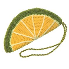 Вязаный лимон крючком