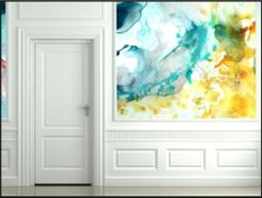 watercolor wall- awesome! I could do this !!