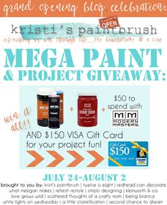 MEGA Paint {Giveaway} on kleinworthco.com