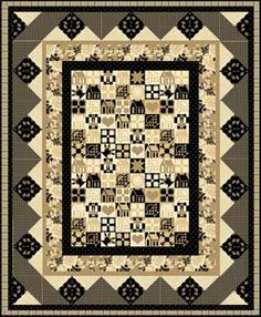 HICKORY HOUSE QUILT KIT . . . stunning quilt, the border accentuates the quilt