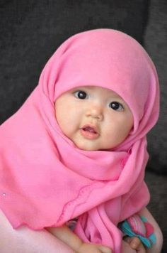 Baby hijab I Cute Little Baby, Baby Kind, Cute Baby Girl, Little Babies, Cute Babies, Pretty Baby, Precious Children, Beautiful Children, Beautiful Babies