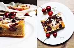 cherry-banana-cake with chocolate and almonds   Kirsch-Bananen-Kuchen