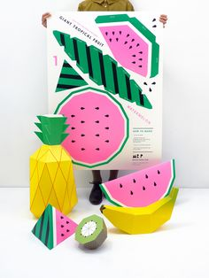 Giant Tropical Fruit Paper Sculpture Kit - Moon Picnic