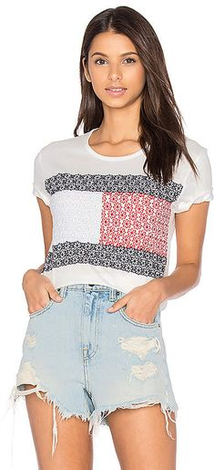 04d1903cf4 Hilfiger Collection Daisy Lace Flag Tee Tommy Hilfiger Fashion, Revolve  Clothing, Fashion Bags,