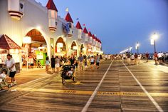 our beach boardwalk is always an exciting place to be! Cape May Point, Ocean City, Jersey Cape, Cape May County, New Jersey