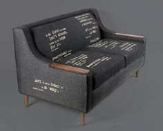 Wordy couch