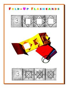 fold up flashcards Long Multiplication, Multiplication And Division, 4th Grade Math, Third Grade, Math Math, Grade 2, Waldorf Math, Homeschool Math, Homeschooling