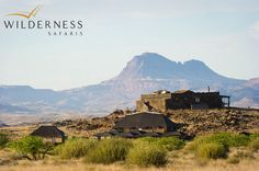 Doro Nawas Camp - The main building of Doro Nawas Camp is perched atop a sparse, rocky knoll and offers unspoilt panoramic views. Safari Holidays, Safari Adventure, African Safari, Kenya, Wilderness, Camping, Tours, San, Mountains