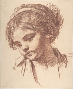 Child's Head - Copy after Jean-Baptiste Greuze