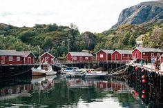 Rorbu fishing huts in Nusfjord Lofoten   Free Non-Stock Photo